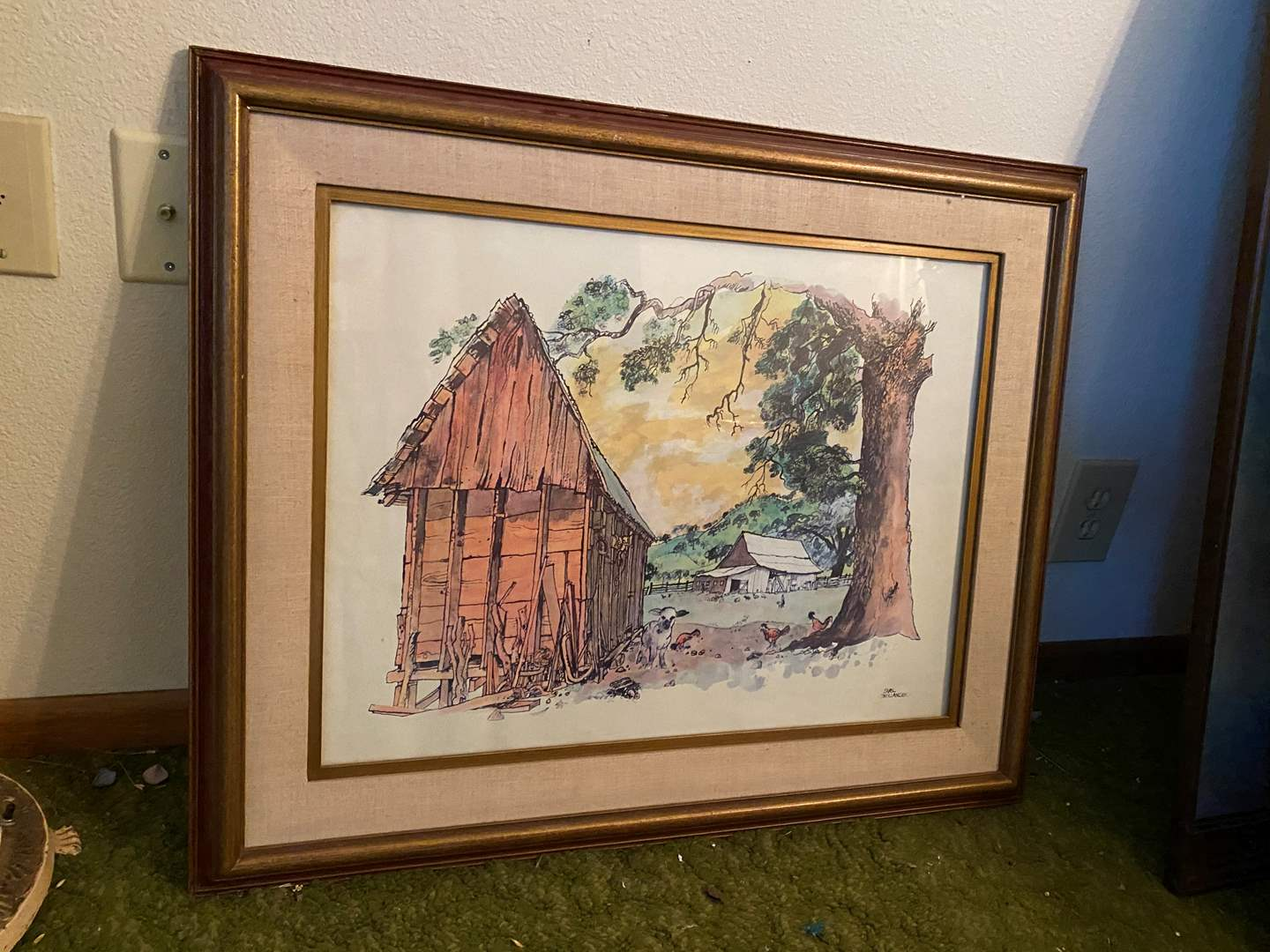 Lot # 254 - One Piece of Framed Art Work Signed by Earl Thollander  (main image)