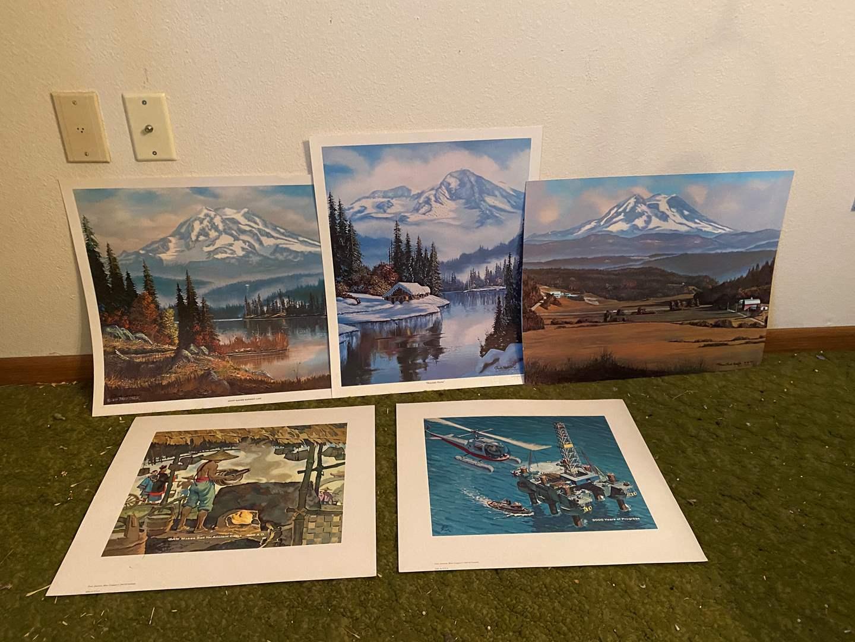 Lot # 258 - 5 Art Prints  (main image)