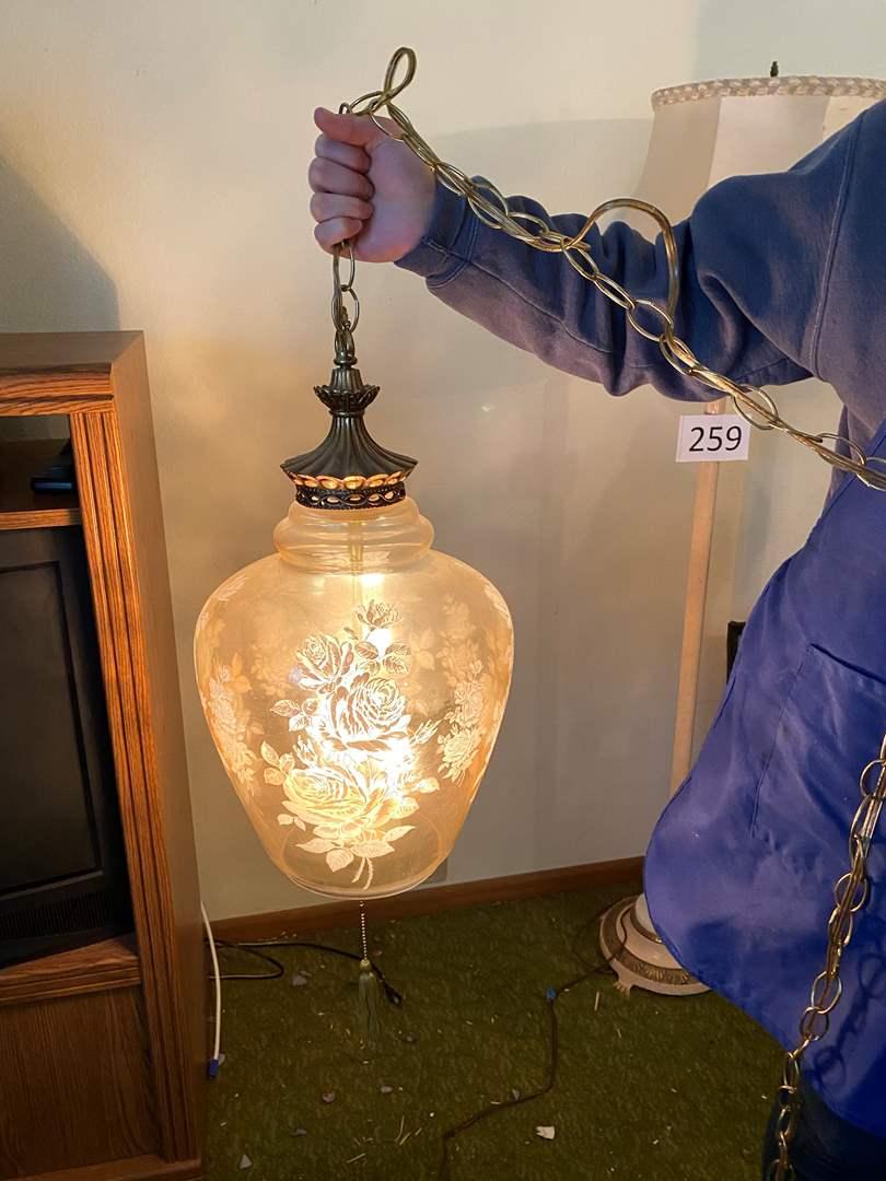 Lot # 264 - Vintage Swag Lamp - Works  (main image)