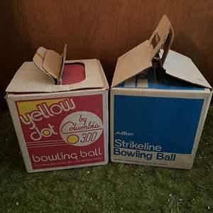 Auction Thumbnail for: Lot # 265 - 2 Vintage Bowling Balls