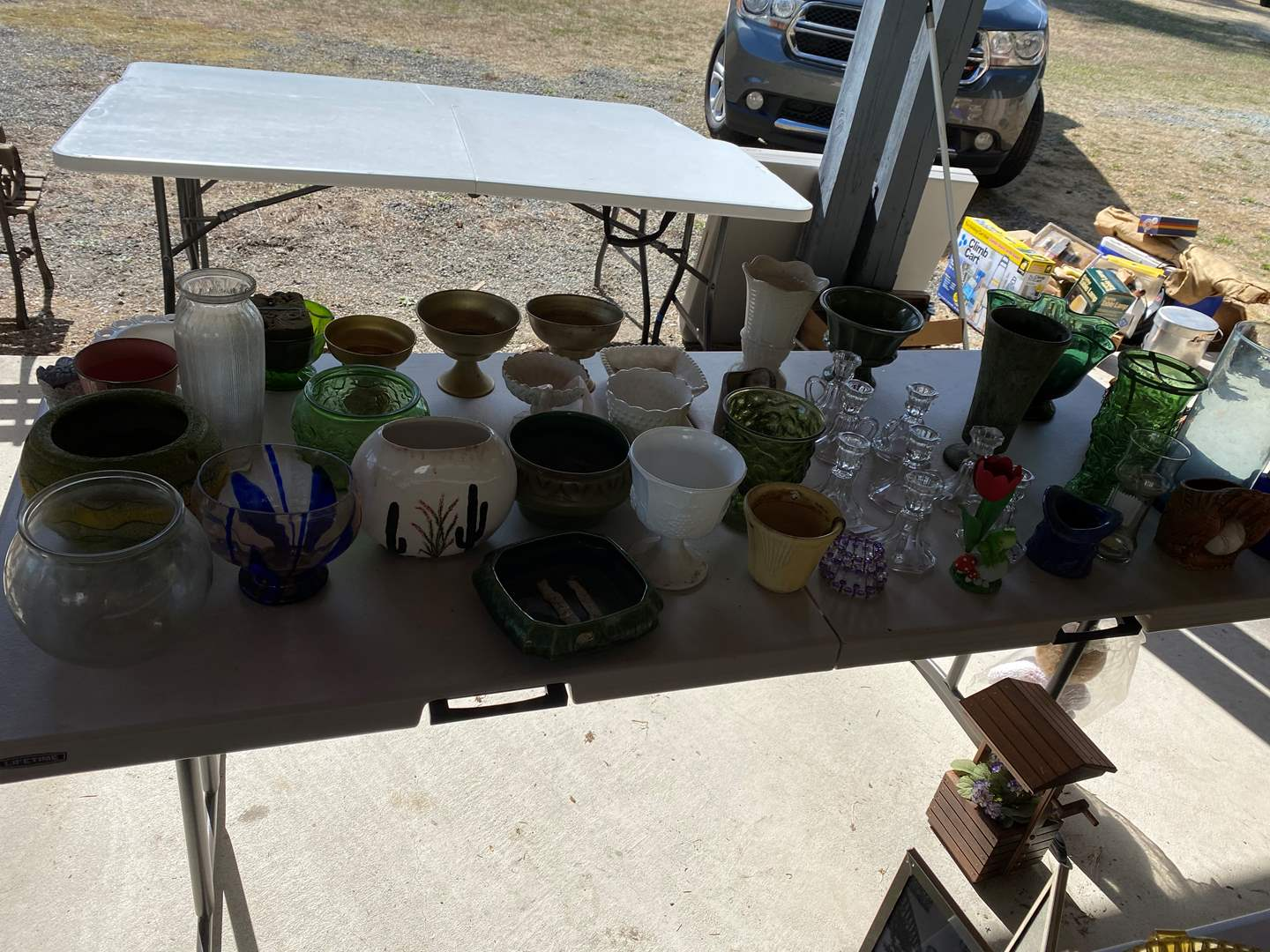 Lot # 268 - Selection of Vases, Flower Pots, Candle Stick Holders & More.. (main image)