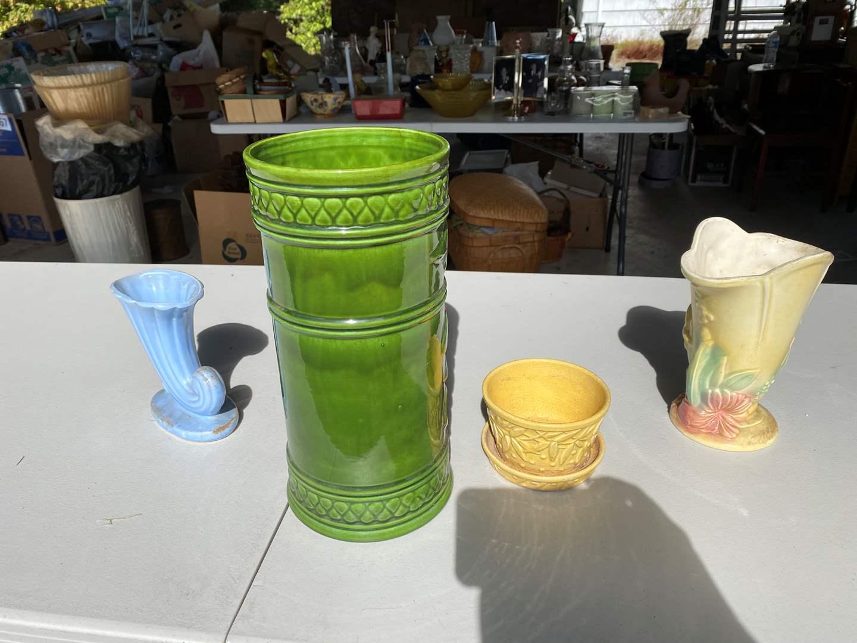 Lot # 269 - Selection of 4 Nice Vintage Vases: McCoy, USA & More... (main image)