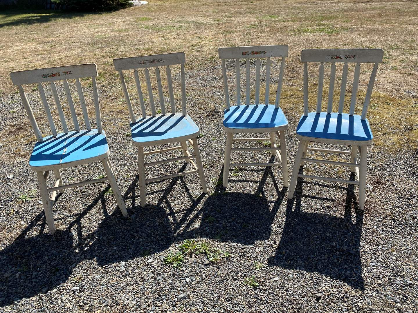 Lot # 277 - 4 Antique Wood Chairs  (main image)