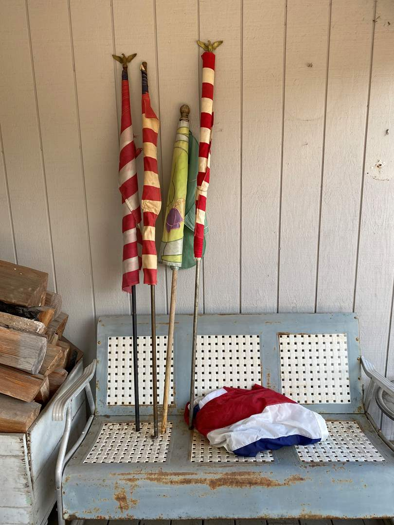 Lot # 290 - Misc. Flags & Flag Poles (main image)