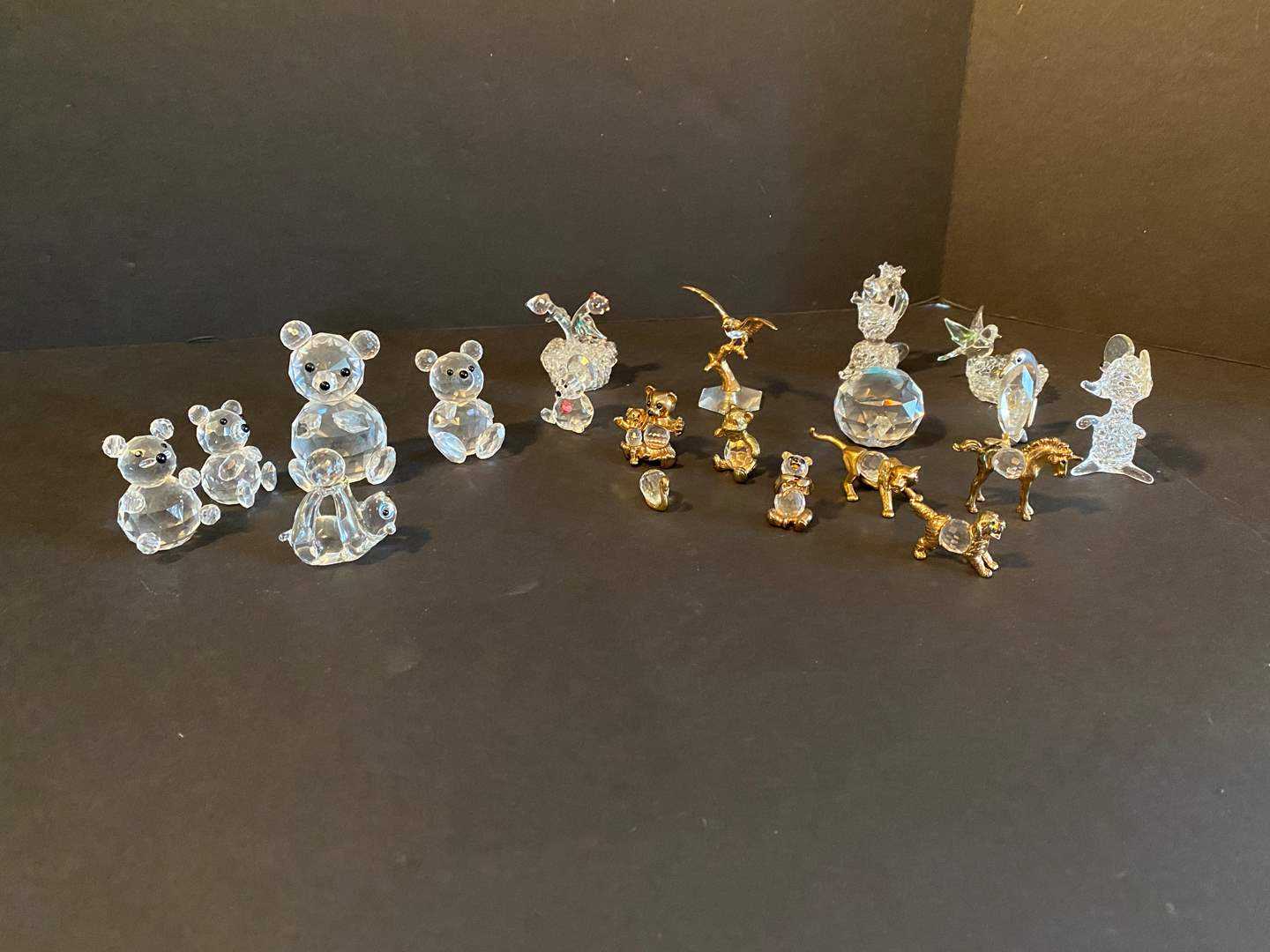 Lot # 17 - Swarovski Crystal Bears & Other Misc. Glass, Crystal & Metal Tchotchkes (main image)