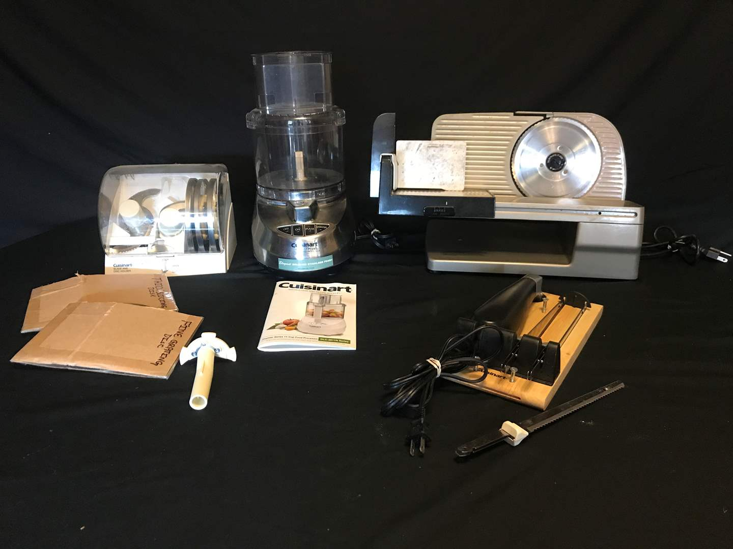 Lot # 64 - Chef's Choice 615 Slicer, Cuisinart Food Processor & Electric Knife (main image)