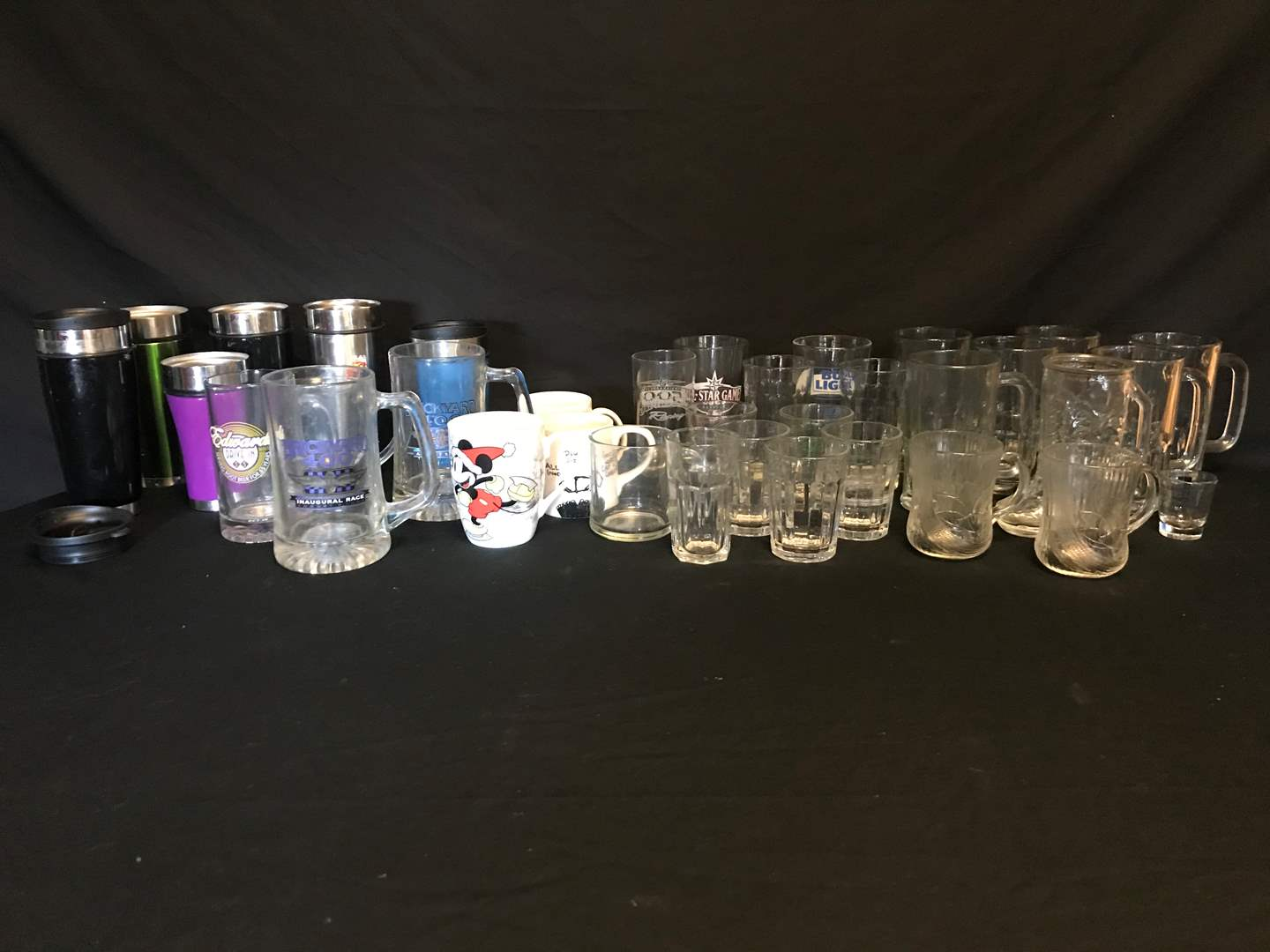 Lot # 68 - Selection of 8 Steins, Glasses of Various Sizes & Coffee Mugs (main image)