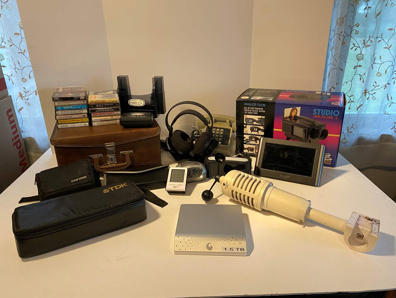 Lot # 36 - Lacrosse Weather Station, Cassettes, Walkman Studio Goldline Video Transfer, 1.5 TB Hand Drive & More.. (main image)