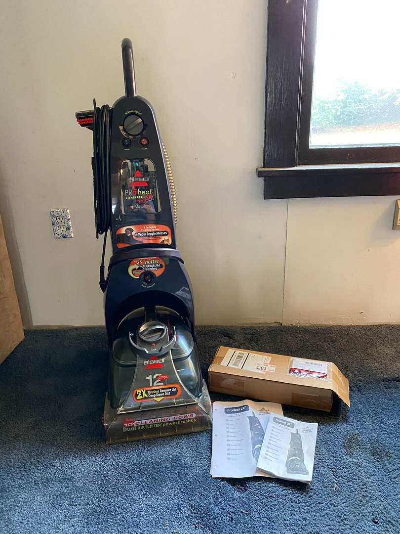 Lot # 44 - Bissell Pro Heat Complete Pet 2x Carpet Shampooer w/Box of New Agitators  (main image)