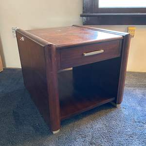 Auction Thumbnail for: Lot # 47 - Wood Side Table