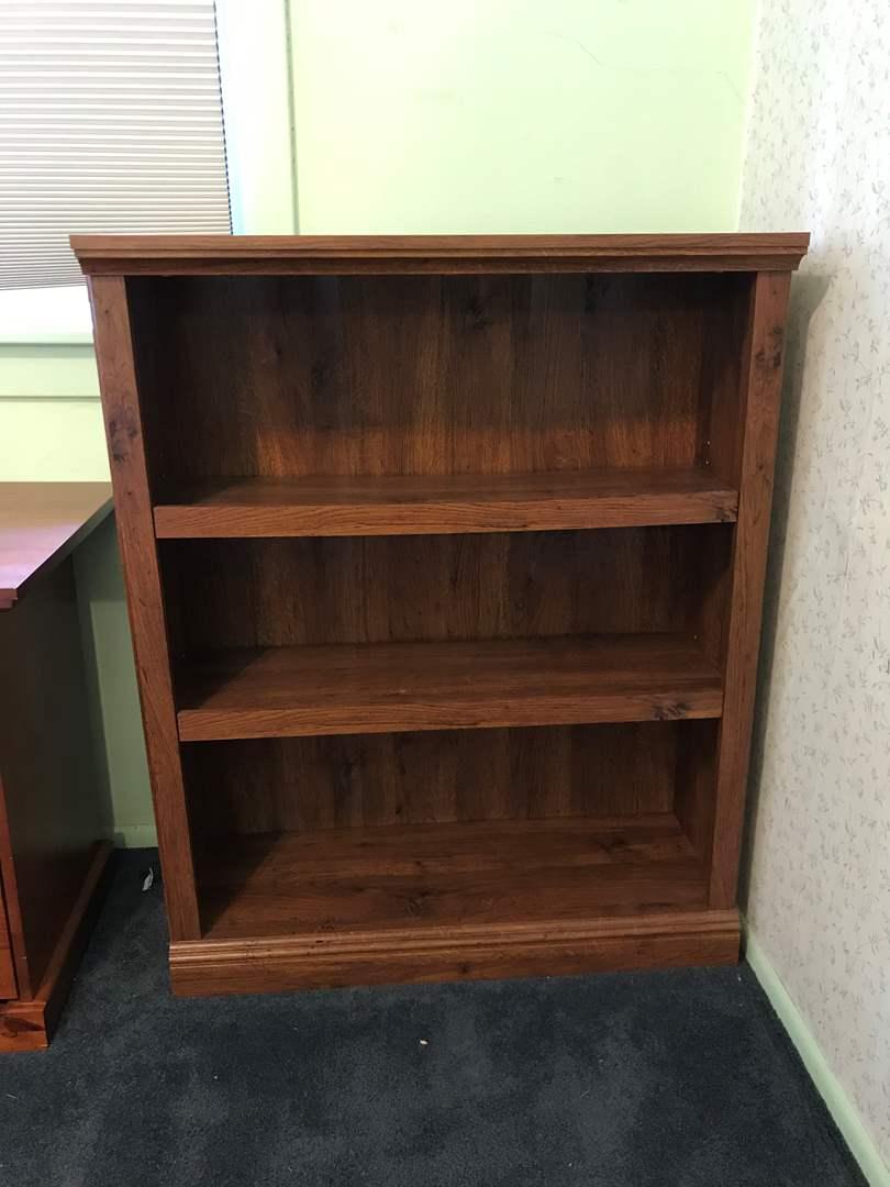 Lot # 77 - Wood 3 Shelf Book Unit (main image)