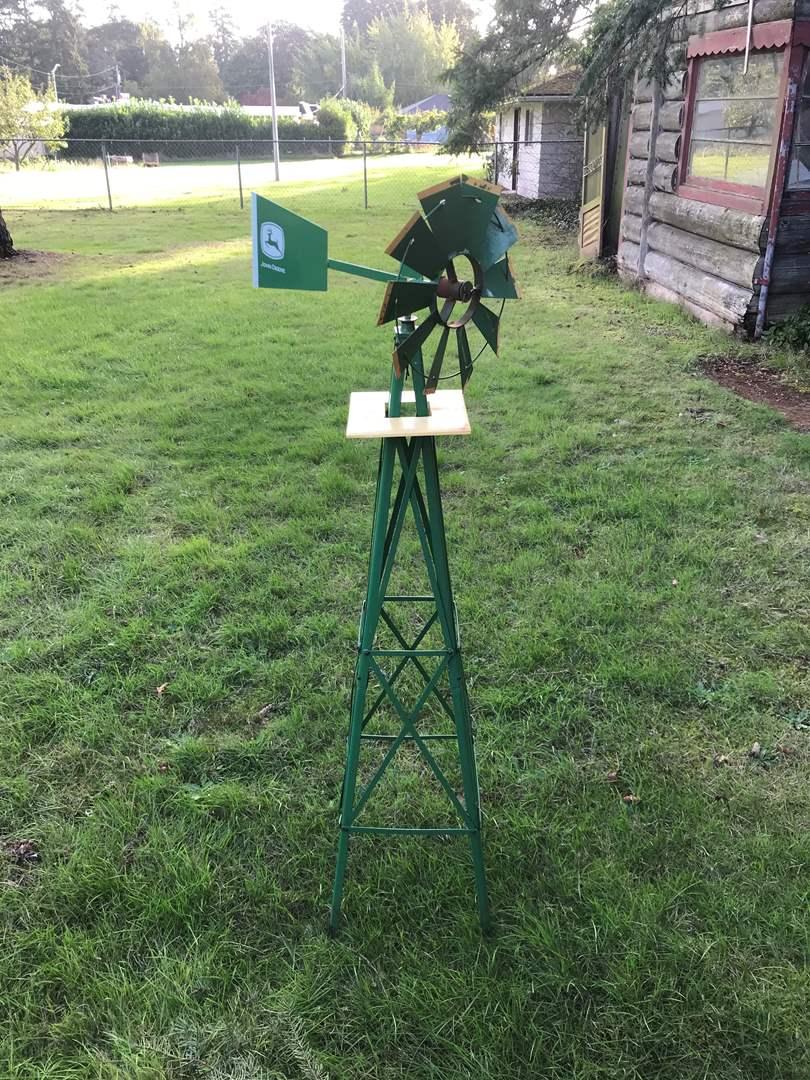 Lot # 139 - Metal John Deere Windmill  (main image)