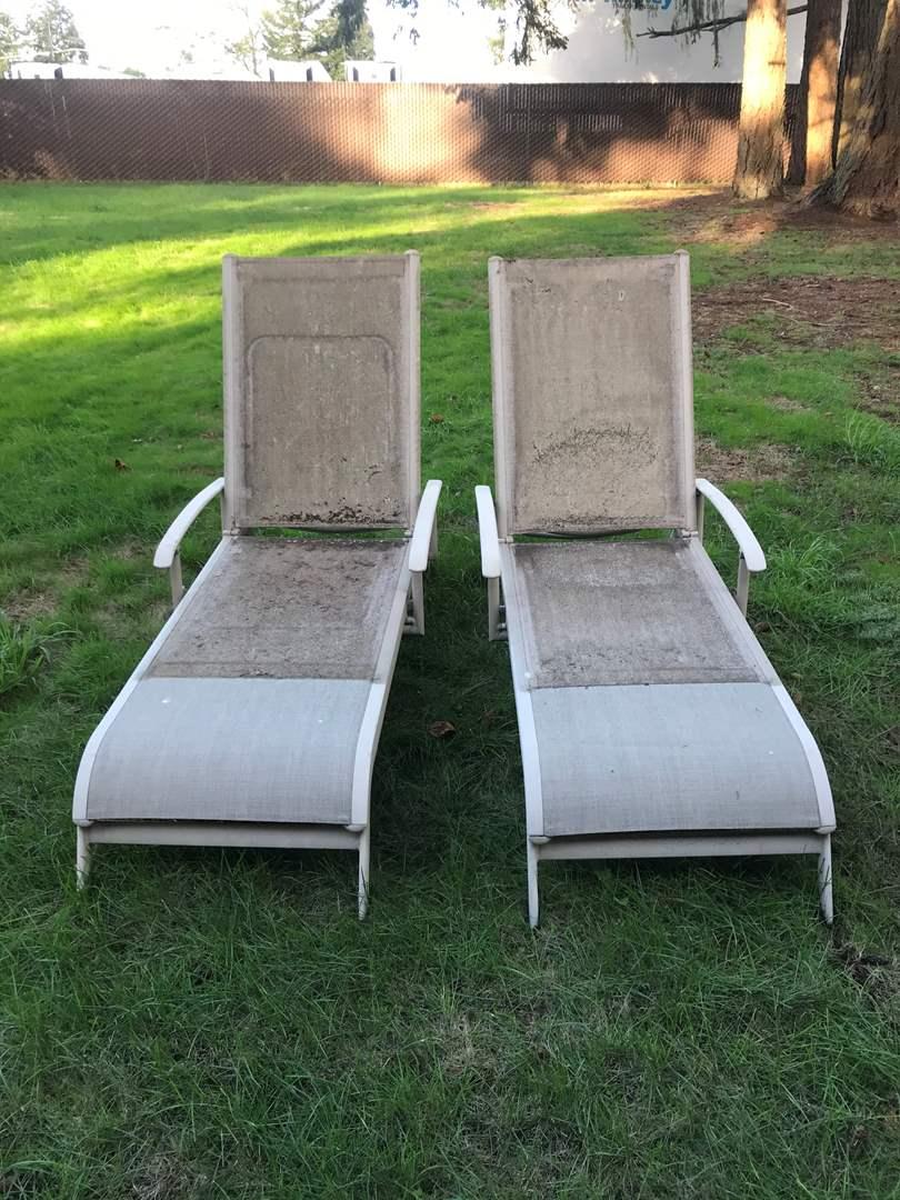 Lot # 140 - 2 Lounge Chairs  (main image)