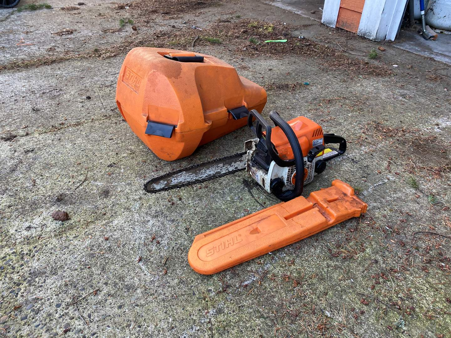 Lot # 161 - Stihl MS 170 Chain Saw w/Case - NOT Tested (main image)