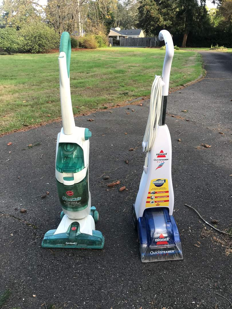 Lot # 145 - Bissell Quick Streamer Plus & Hoover Floor Mate  (main image)