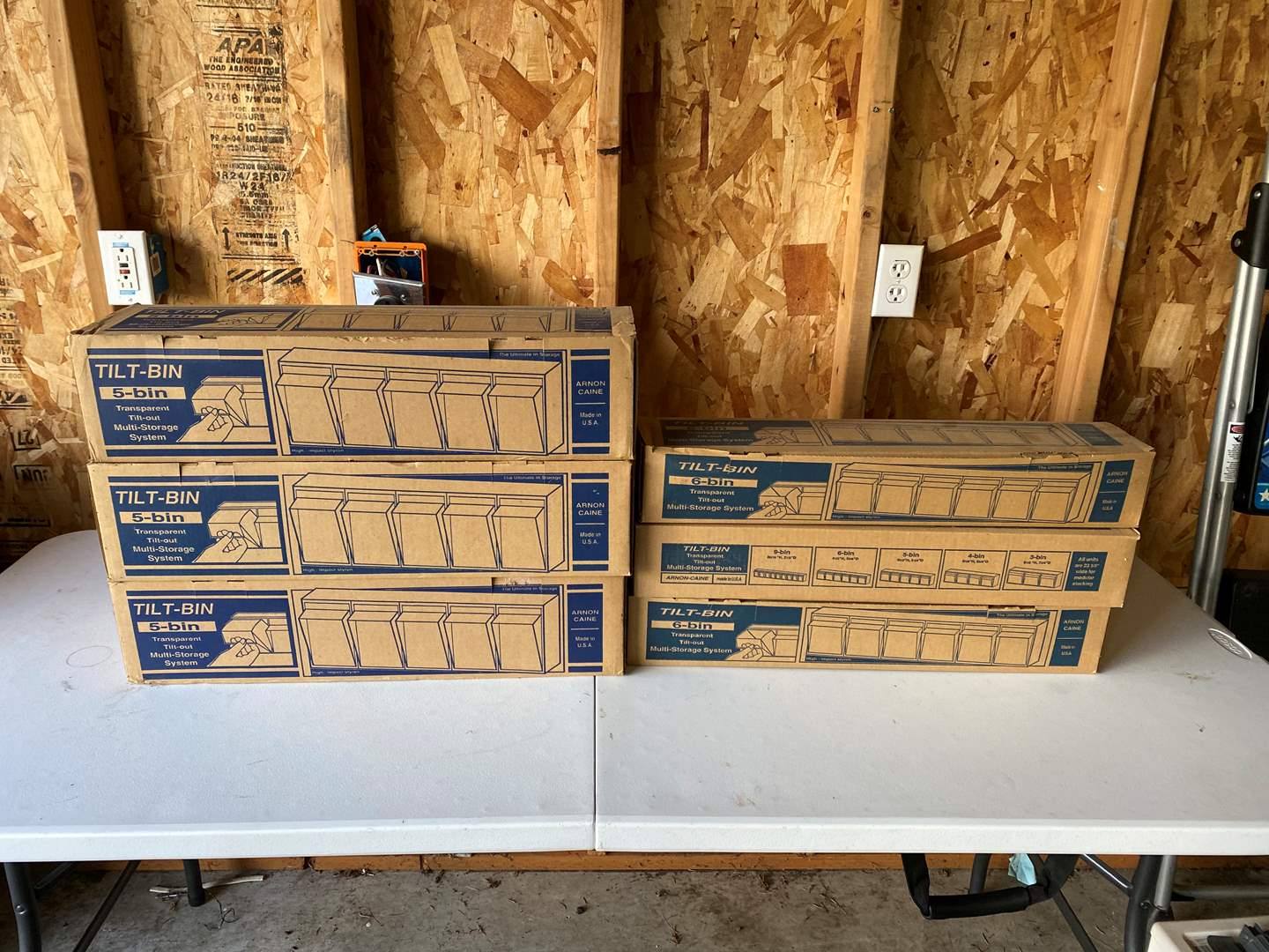 Lot # 185 - 6 Boxes of Tilt-Bins (New In Box) (main image)