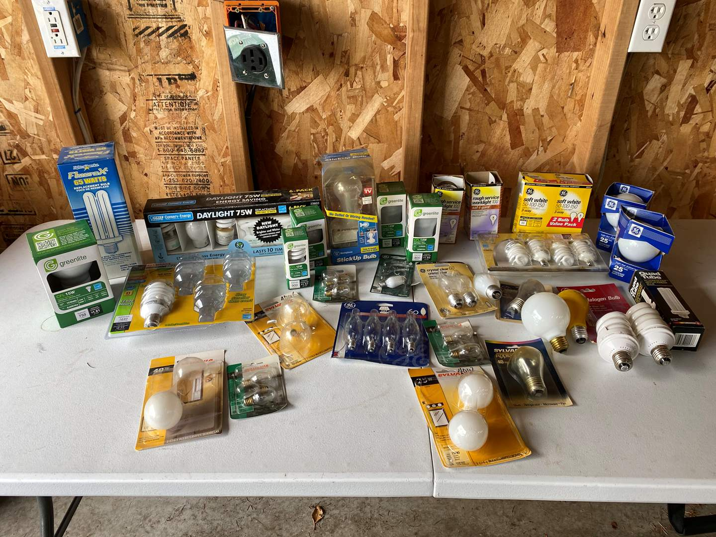 Lot # 187 - Selection of Light Bulbs - Some New, Some Used  (main image)
