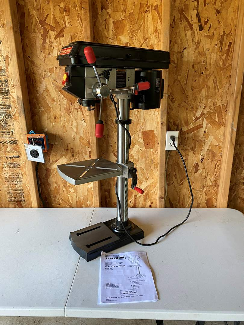 """Lot # 191 - Craftsman 12"""" Drill Press in Like New Condition - No Key (main image)"""