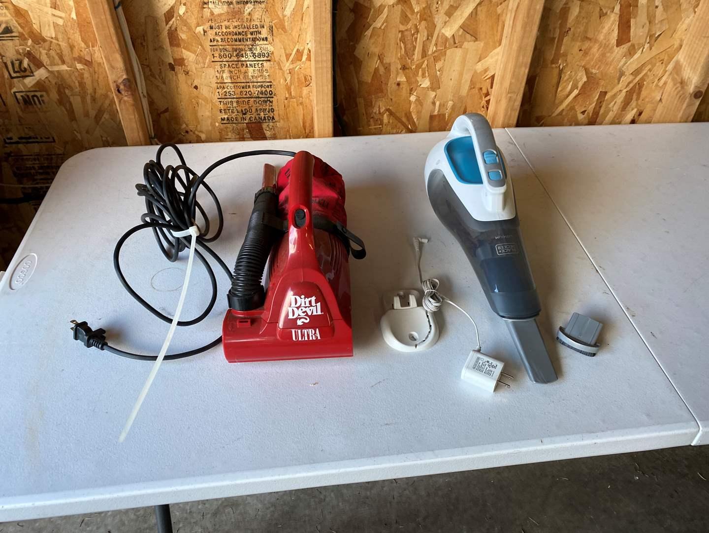 Lot # 194 - Dirt Devil & Cordless Black & Decker Hand Vacuums - Tested/Work (main image)