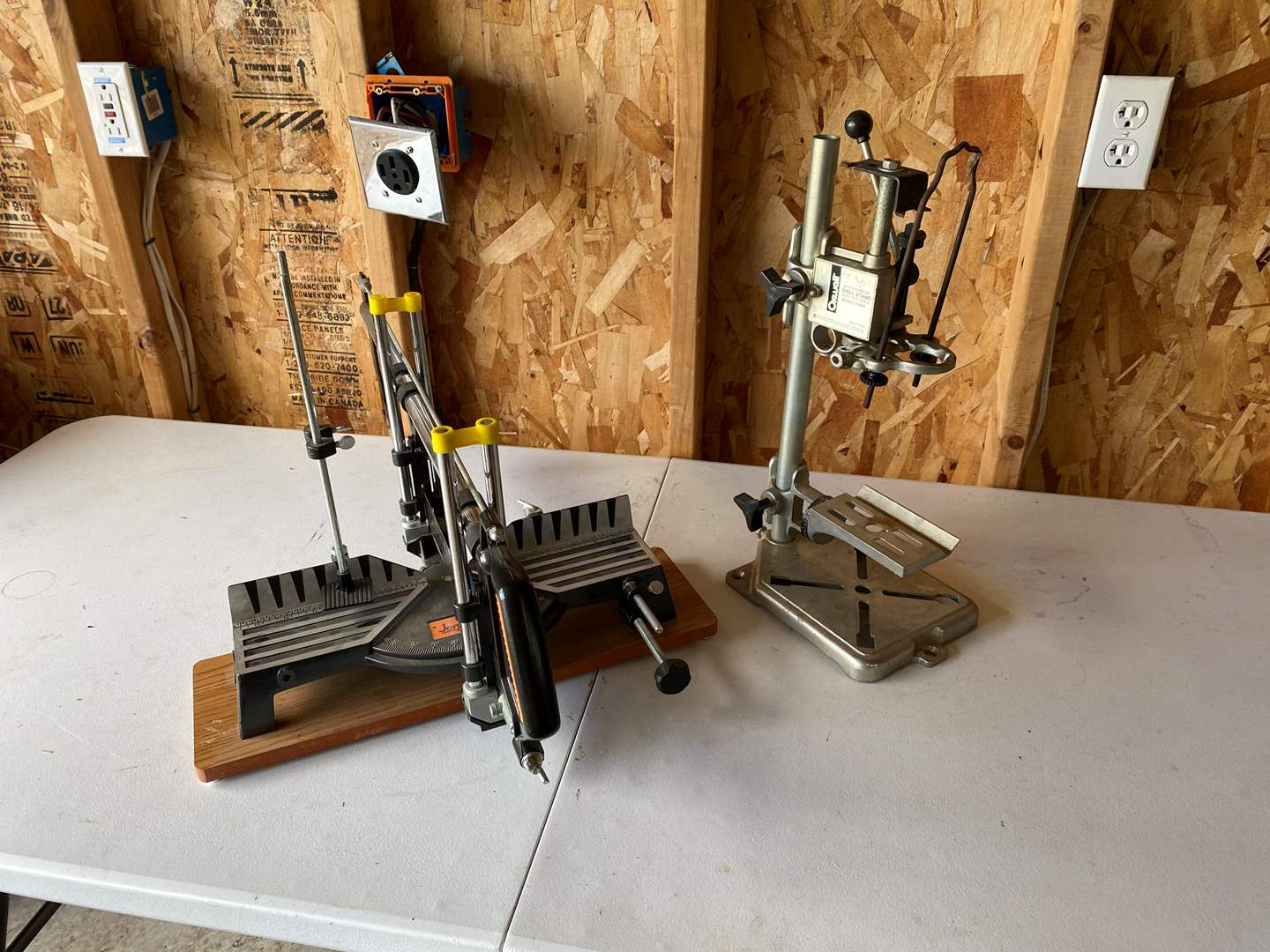 Lot # 197 - Jorgensen Miter Saw & Oxwall Drill Stand (main image)