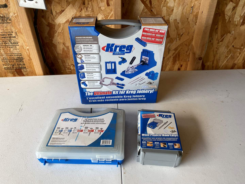 Lot # 198 - New in Box Kreg Wood Working Accessories  (main image)