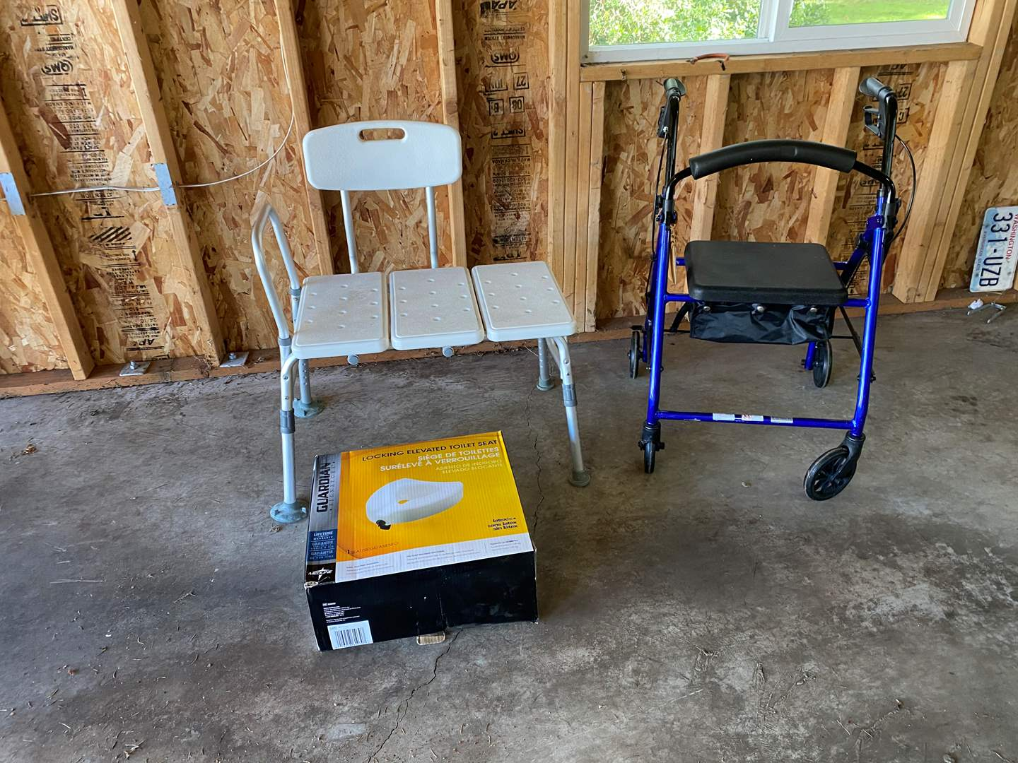 Lot # 204 - Elevated Toilet Seat, Shower Chair & Walker (main image)