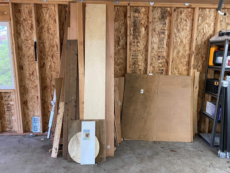 Lot # 206 - Selection of Peg Board & Scrap Wood (main image)