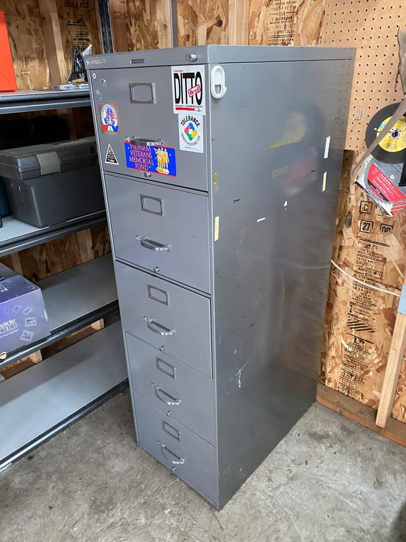 Lot # 214 - 5 Drawer File Cabinet  (main image)