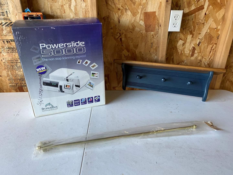 Lot # 215 - New in Box Powerslide 5000, Coat Rack & Curtain Rod  (main image)