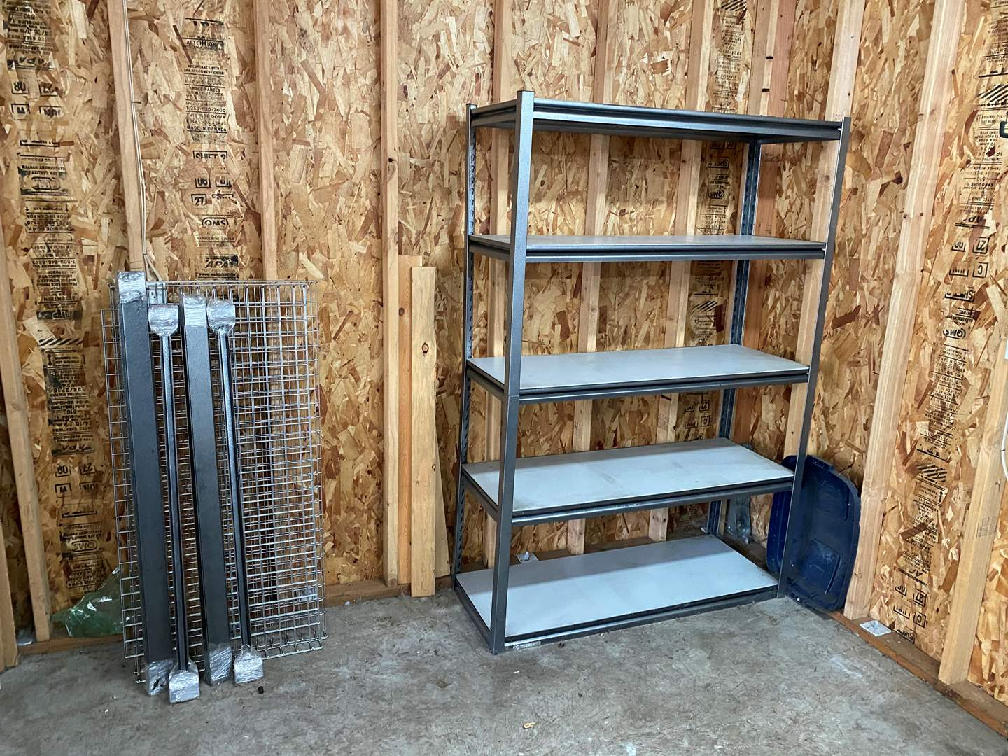 Lot # 218 - Heavy Duty Metal Shelving Unit & Another Unassembled  (main image)