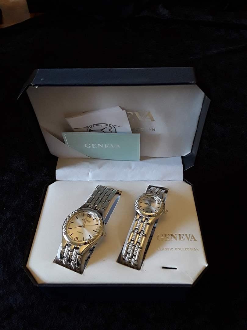 Lot # 85 - Vintage Geneva Men and Women's Watch Gift Set (NIB) (main image)