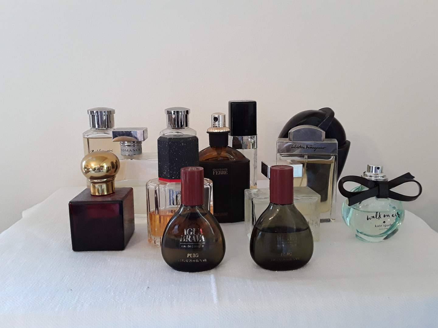 Lot # 42 - Lot of (13) Partially-Full Bottles of Perfume and Cologne (main image)