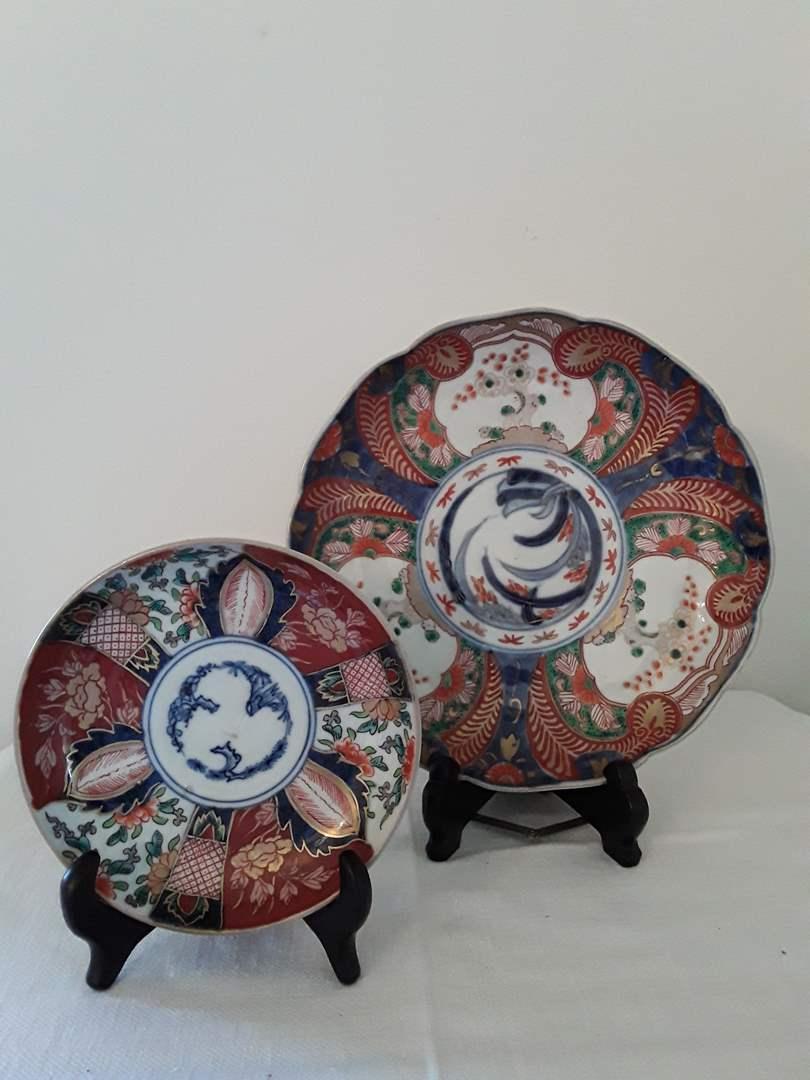 Lot # 52 - Lot of (2) Imari Dishes (main image)