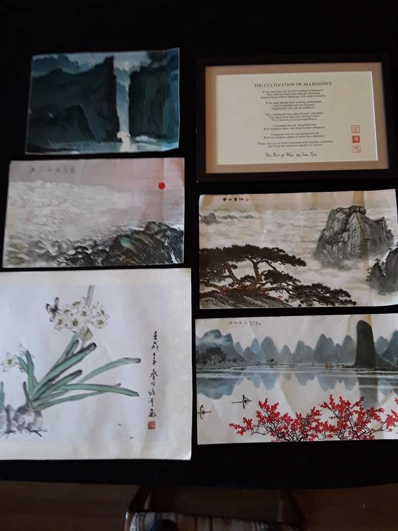 Lot # 58 - Asian Watercolors (set of 5) (main image)