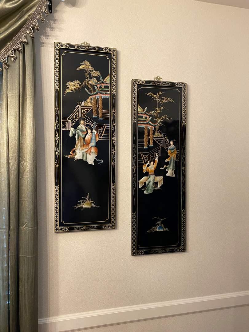 Lot # 2 - Beautiful Ornate Asian Wall Hangings (main image)