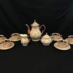Lot # 59 - Very Cute Small Tea Set - 17 Piece Set