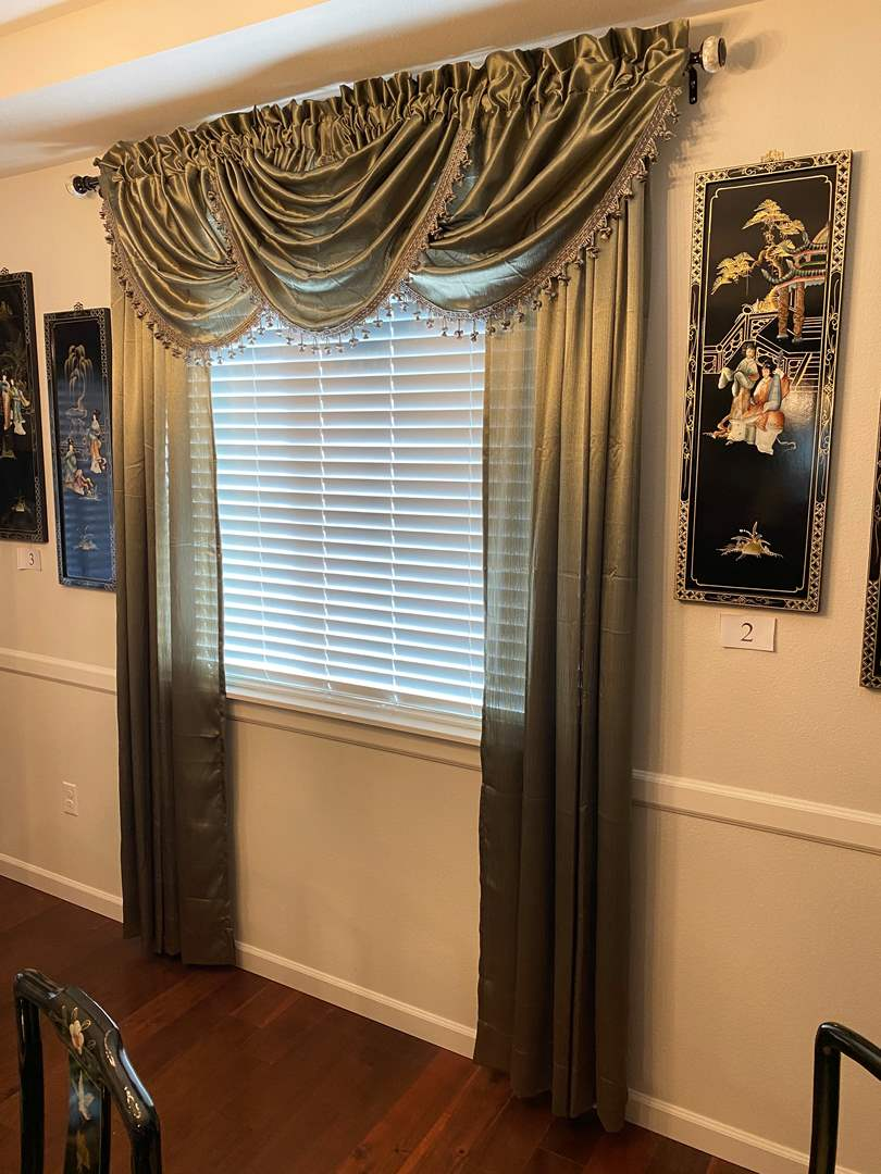 Lot # 7 - Nice Set of Curtains w/Rods (main image)