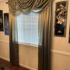 Lot # 7 - Nice Set of Curtains w/Rods