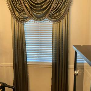 Lot # 8 - Nice Set of Curtains w/Rods