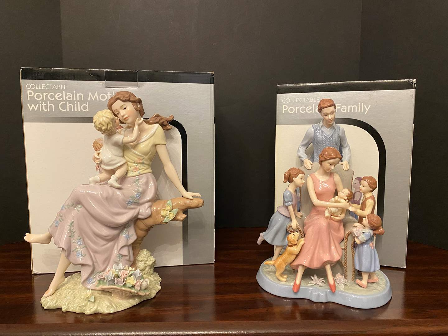 Lot # 13 - Two Collectible Porcelain Figurines (main image)
