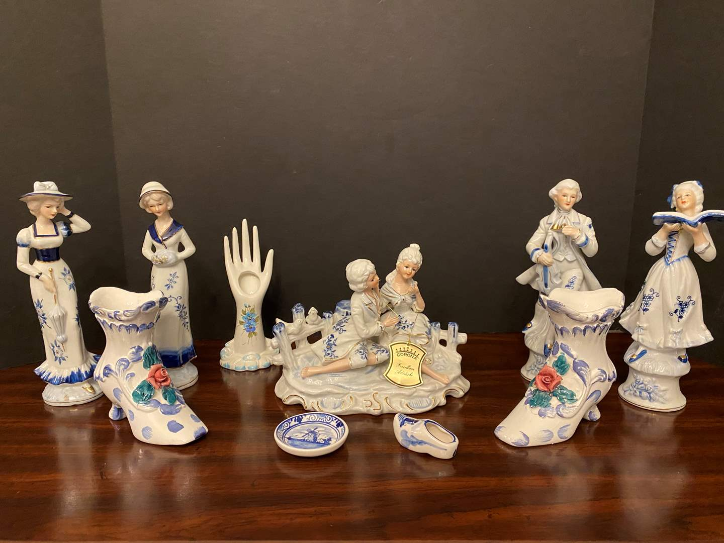 Lot # 17 - Nice Collection of Delft Blue Porcelain Figurines - See Pictures for Makers Mark (main image)