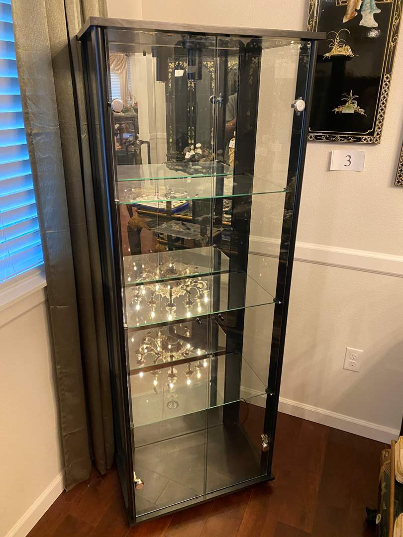 Lot # 18 - Lighted Wood & Glass Display Cabinet (main image)