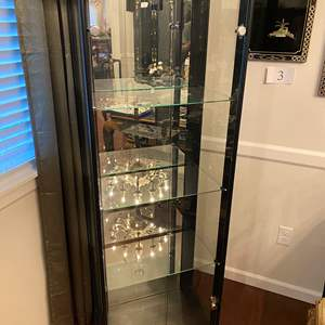 Lot # 18 - Lighted Wood & Glass Display Cabinet