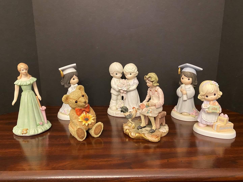 Lot # 19 - Precious Moments Figurines w/ Cabrelli Capodimonte Figurine & More.. (main image)