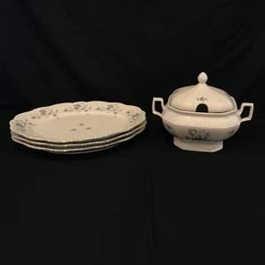 Lot # 65 - Seltmann Weiden Andrea Soup Tureen & 3 Johann Haviland Bavaria Serving Dishes
