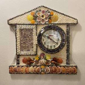 Lot # 25 - Awesome Wall Clock Made Out of Sea Shells from the Philippines
