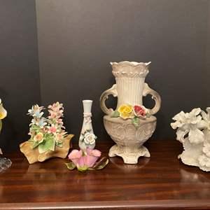 Lot # 27 - Capodimonte Decor, Cevik Vase & More..