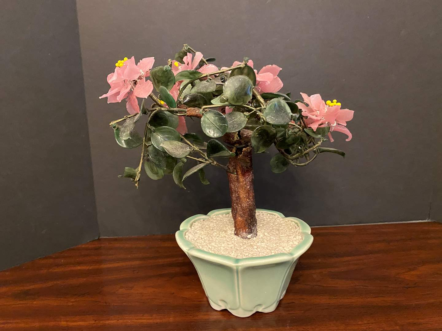 Lot # 34 - Small Glass/Jade Tree  (main image)