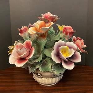 Lot # 35 - Large Porcelain Capodimonte? Floral Arrangement