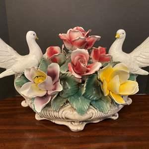 Lot # 36 - Large Porcelain Capodimonte? Floral Arrangement